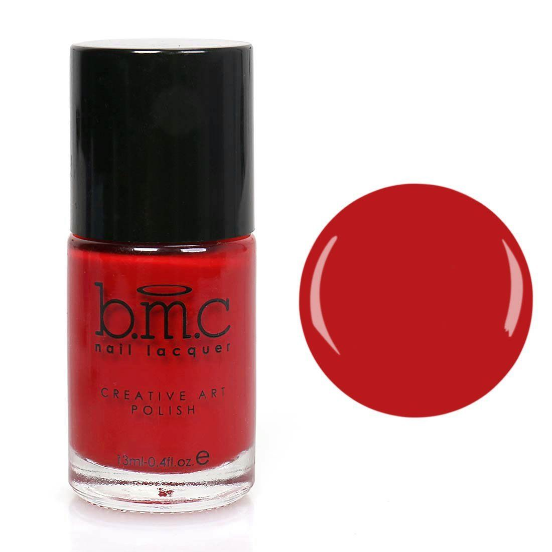 BMC Nail Stamping Lacquers - Creative Art Polish Collection - Red ...