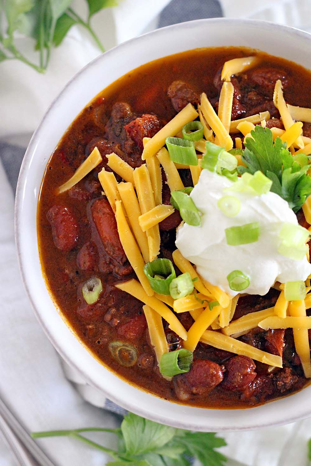 Instant Pot Chili With Ground Beef And Dry Kidney Beans