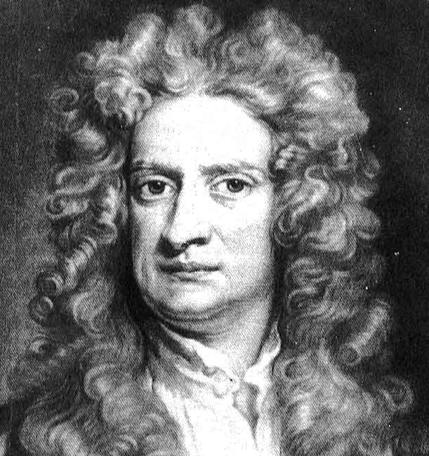 Isaac Newton.  Sir Isaac Newton PRS foi um físico Inglês e matemático que é amplamente reconhecido como um dos cientistas mais influentes de todos os tempos e uma figura chave na revolução científica. Wikipedia