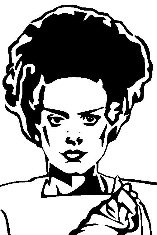 Bride Of Frankenstein Stencil Ness Bride Of