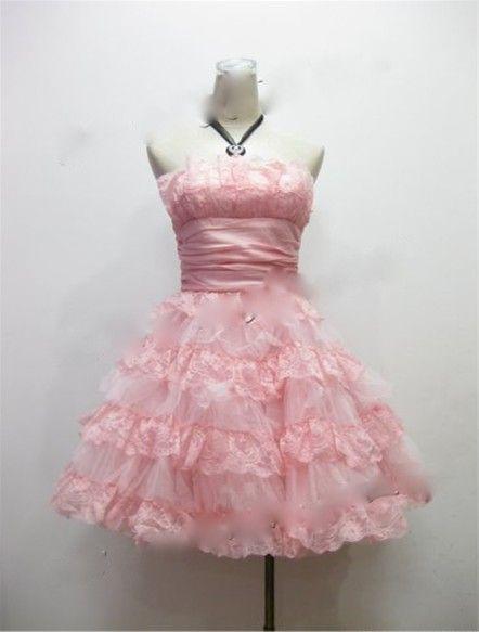 9bcc2d062a Betsey Johnson Mini Tea Party Prom Dress - Peach