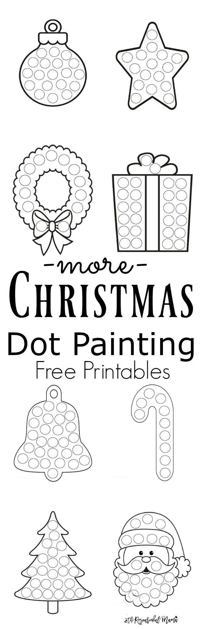 more christmas dot painting free printables dot painting kid