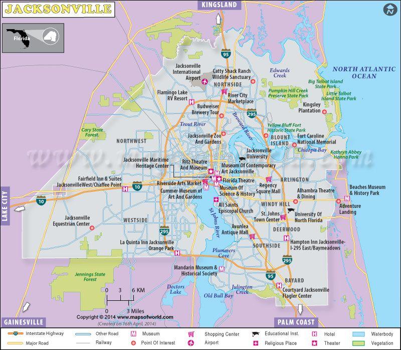 Florida Geography Map.Printable Jacksonville Map Geography Ideas In 2019 Jacksonville