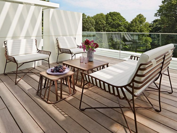Aménager coin lounge sur terrasse avec salon jardin de style ...