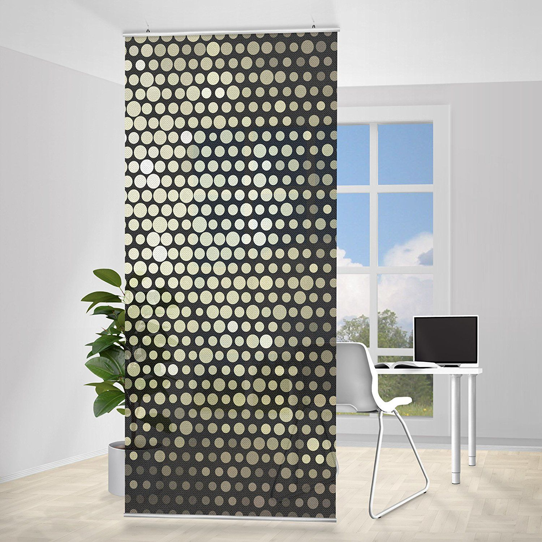 Paravent Rideau Disco Background Incl Querre Taille 250×120 Cm  # Bibliotheque Moderne Design Panneau Coulissant