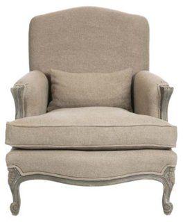 Abbott Linen Chair, Flax