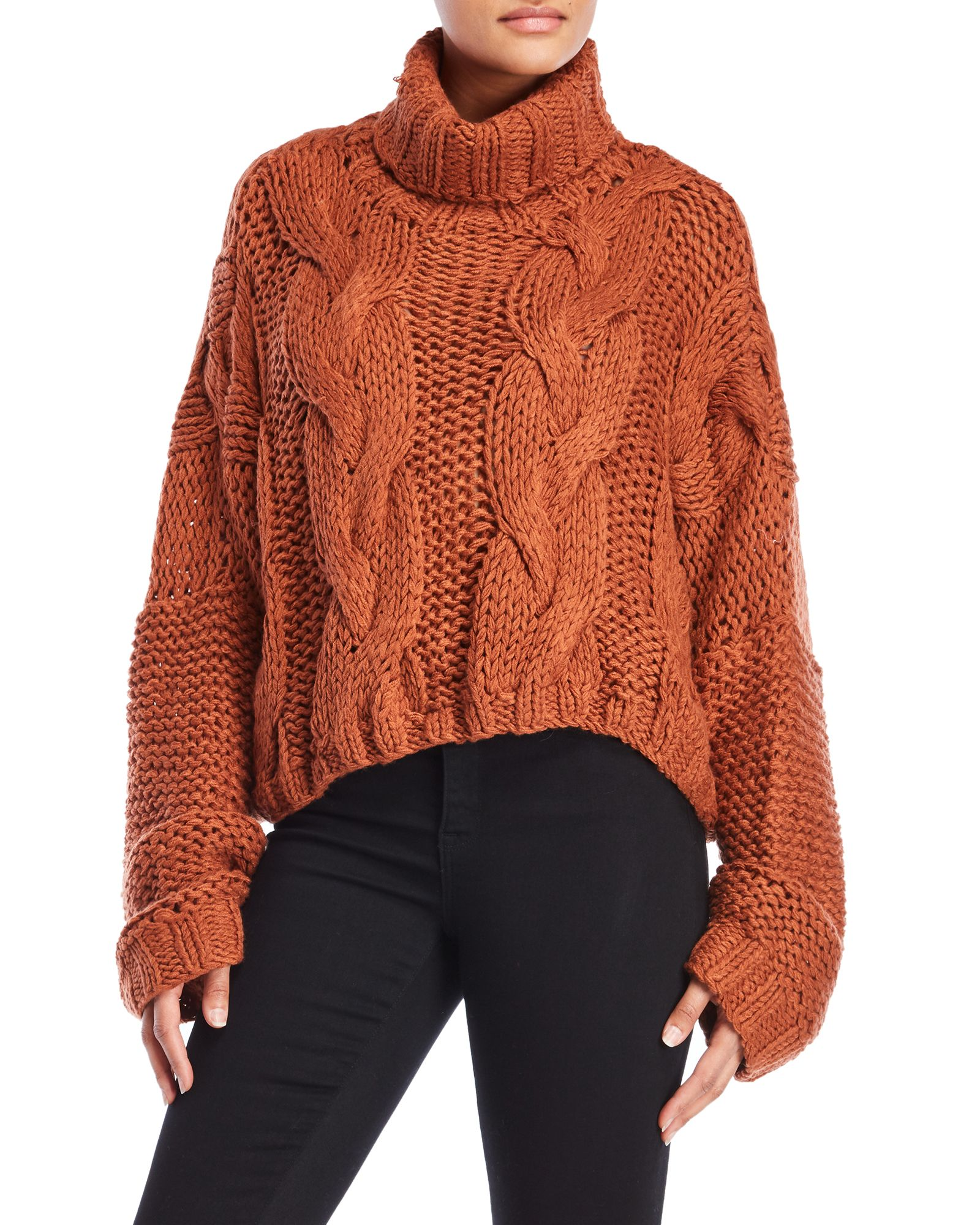 9e1d2073712 Chunky Cable Knit Cropped Sweater in 2019 | *Apparel & Accessories ...