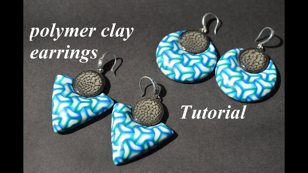 NEW idea for polymer clay earrings using LC CZEXTRUDER