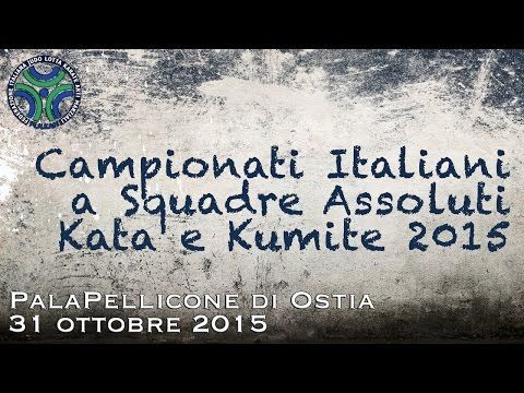Italian championships Team Absolute Kata Kumite 2015   Emilio Merayo