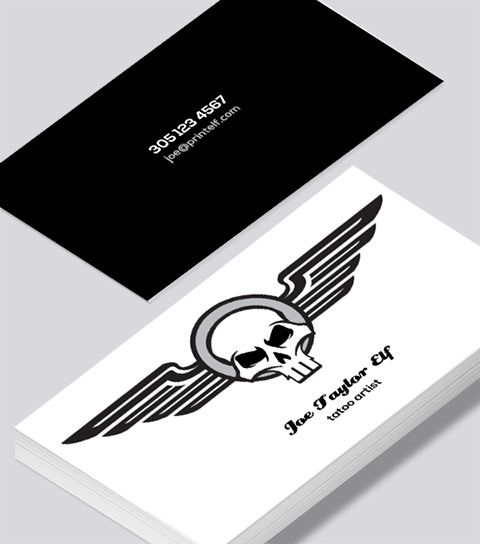 Tattoo business card design edgy powerful and young contrasting tattoo business card design edgy powerful and young contrasting colors with scull on the front cheaphphosting Images