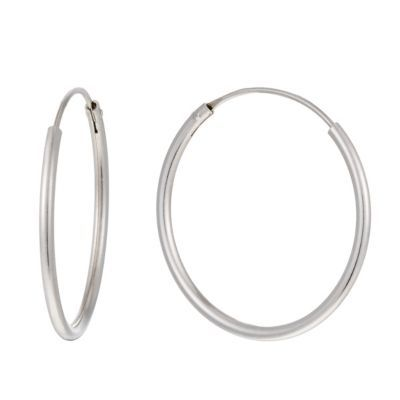 Silver 22mm Sleeper Hoop Earrings H Samuel the Jeweller Simple