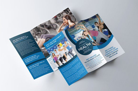Fitness And Gym TriFold Brochure By Party Flyers On