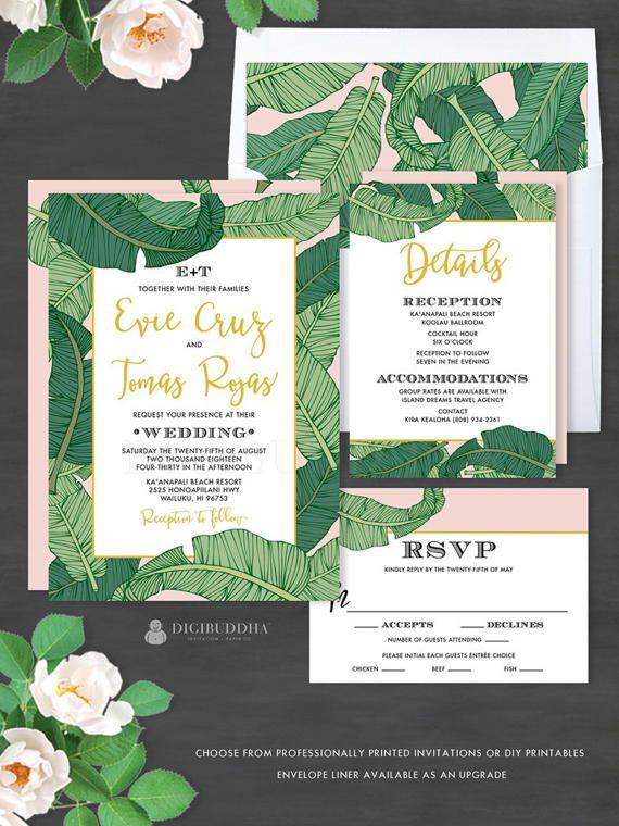 Romantic Elegant Destination Wedding Invitation Suite Evie