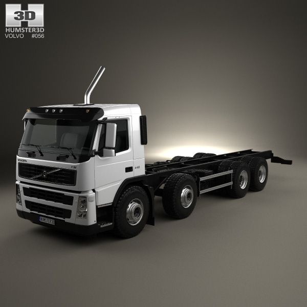3d Model Of Volvo Fm Chassis Truck 4