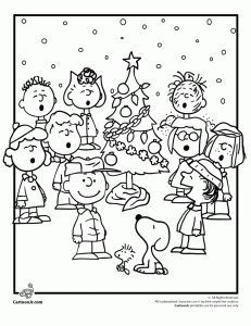 Free Charlie Brown Christmas Coloring Pages Kids Activity I Could Print These Out