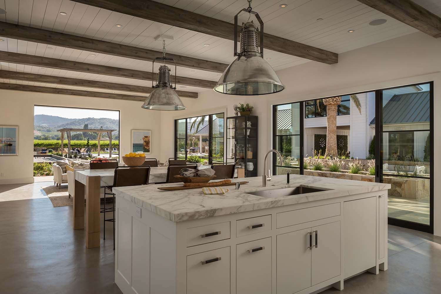 fresh modern farmhouse style with stunning views of napa wine country home decor kitchen on kitchen remodel modern farmhouse id=75293