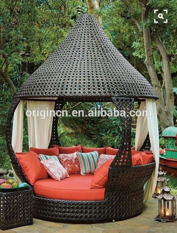 Oasis Luxury Asian Style Indoor Daybed With Tapered Roof Outdoor Canopy Lounge View Oem Product Details From Jinhua Origin