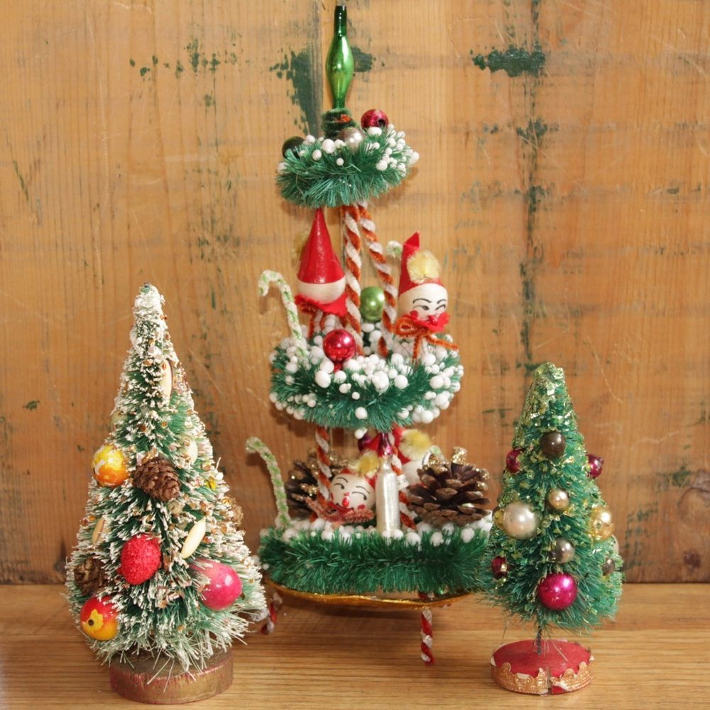 Wire Brush Christmas Fruit Ornaments Trees Elves With Images Christmas Collectibles Christmas