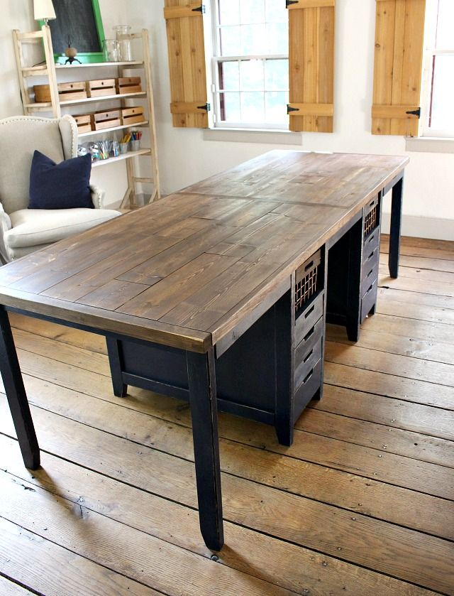 Multipurpose Work Table With Storage Diy Dining Table, Dining Table With  Storage, Desk Storage