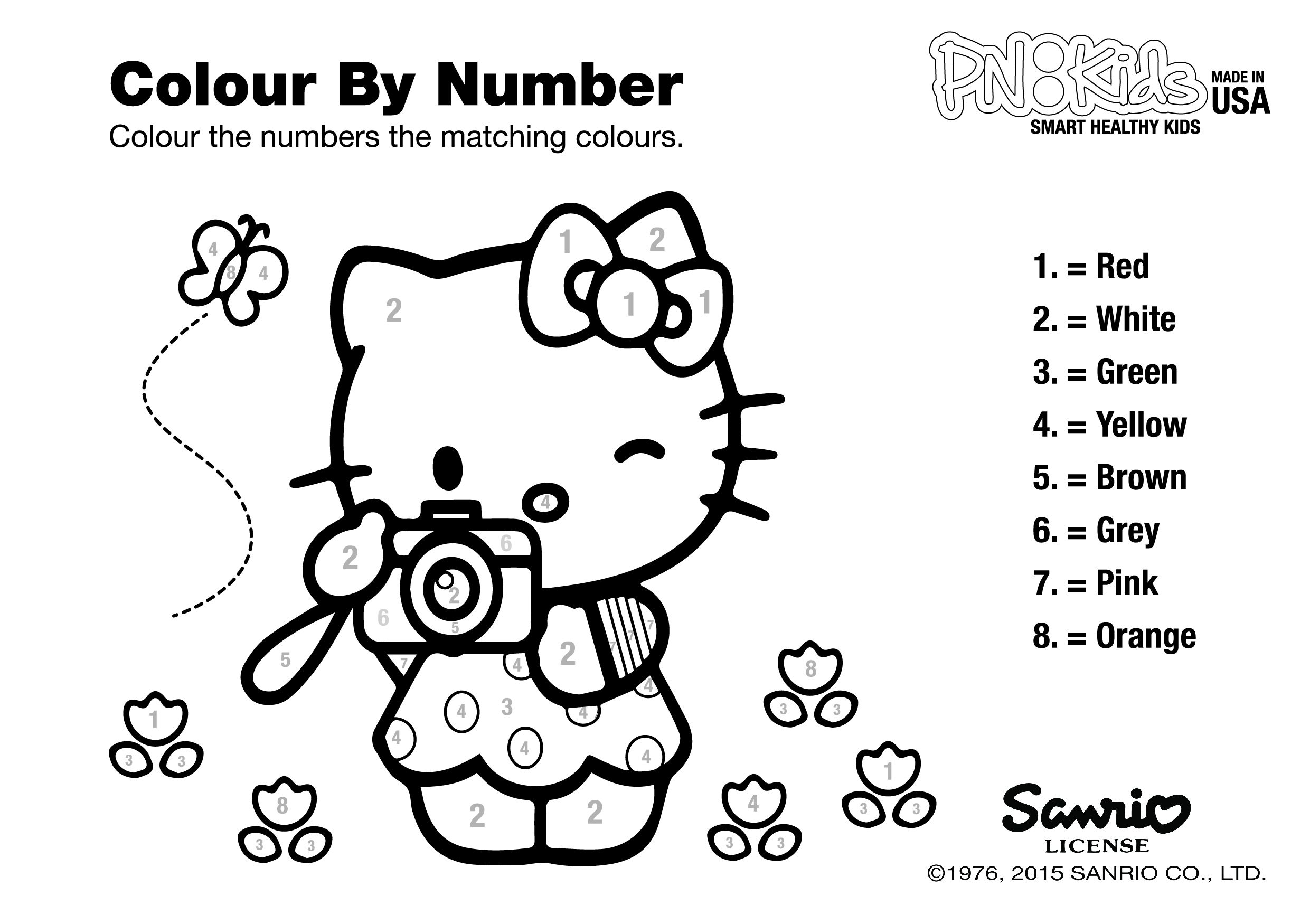 Hello Kitty Coloring Pages By Numbers - Coloring pages allow kids to  accompany their … | Hello kitty colouring pages, Hello kitty coloring,  Birthday coloring pages