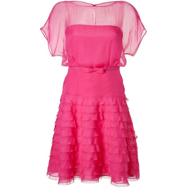 tiered ruffle dress - Pink & Purple Valentino Collections T4xWVxI