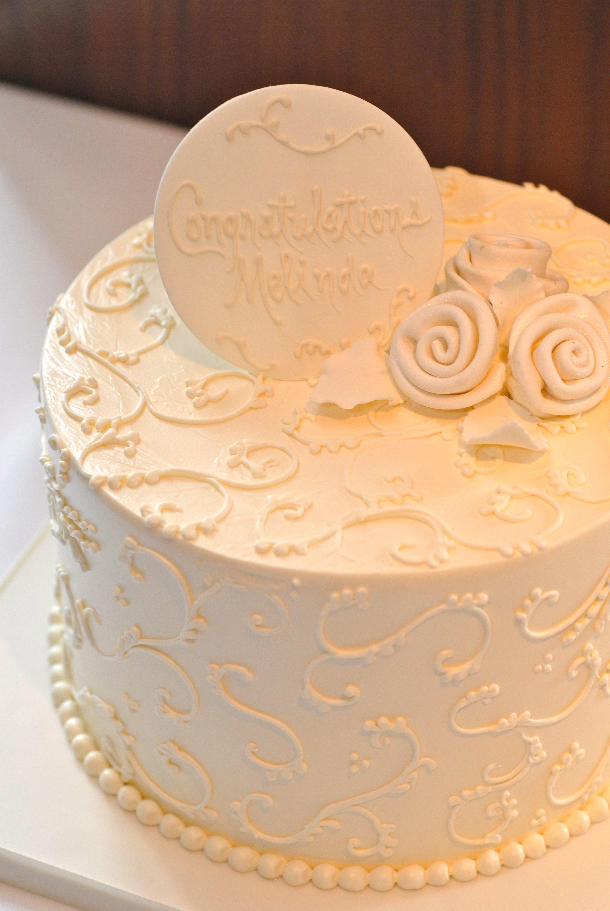 Wedding Shower Cake, Pastry Chef Mary Winslow. Photo by Cindy Kurman ...