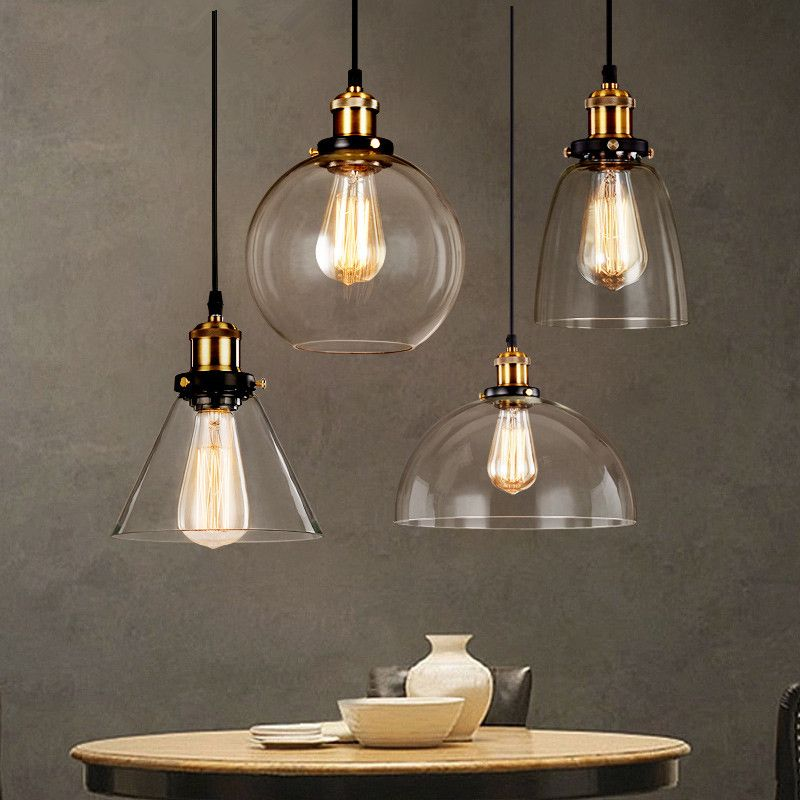 Find More Pendant Lights Information About Vintage Glass Hanging Lamps For Kitchen Luminaria Retro Loft Light Fixtures Modern Ceiling