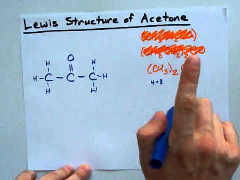 Very helpful illustration! Lewis Structure of Acetone ...
