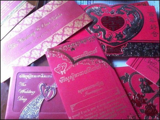 Cambodian Wedding Invitation Wedding Ideas Pinterest Weddings