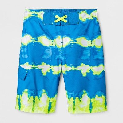 40aab79a2b Boys' Twist Dye Yellow Dash Swim Trunks - Cat & Jack Blue S in 2018 ...
