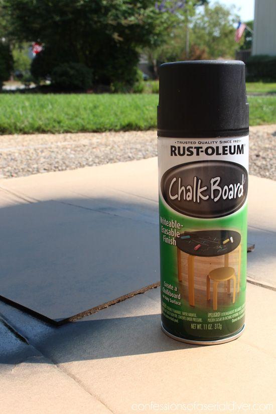 Chalkboard Spray Paint Ideas Part - 41: Rustoleumu0027s Chalkboard Spray Paint Is Perfect For Making Chalkboards.
