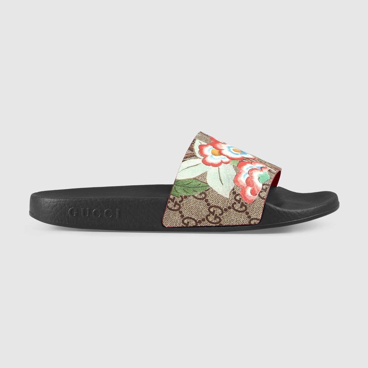 b88579b22 GUCCI Women's Gucci Tian slide sandal - GG Supreme tian. #gucci #shoes #