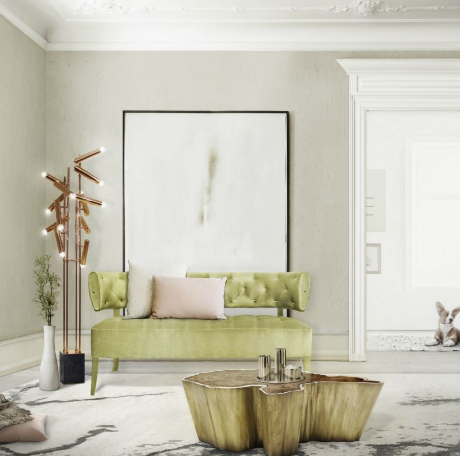 springy green and pink natural living room | TIDA | Living Rooms ...