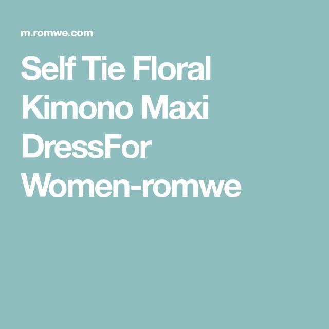94611ce7a47dd8 Self Tie Floral Kimono Maxi DressFor Women-romwe   Beauty Board ...