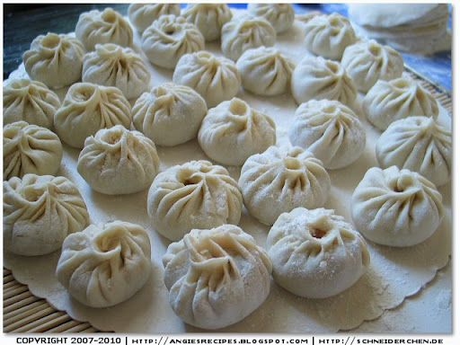 Chinese Xiaolongbao (Soup-filled Dumplings)