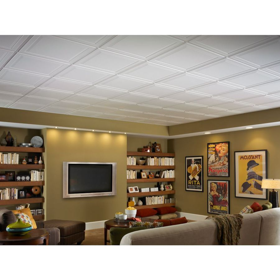 Shop Armstrong 24 In X 24 In Single Raised Homestyle Ceiling Tile
