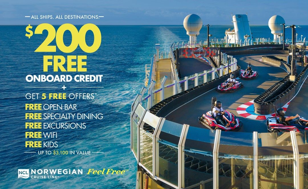 All ships. All destinations. Free onboard credit ...