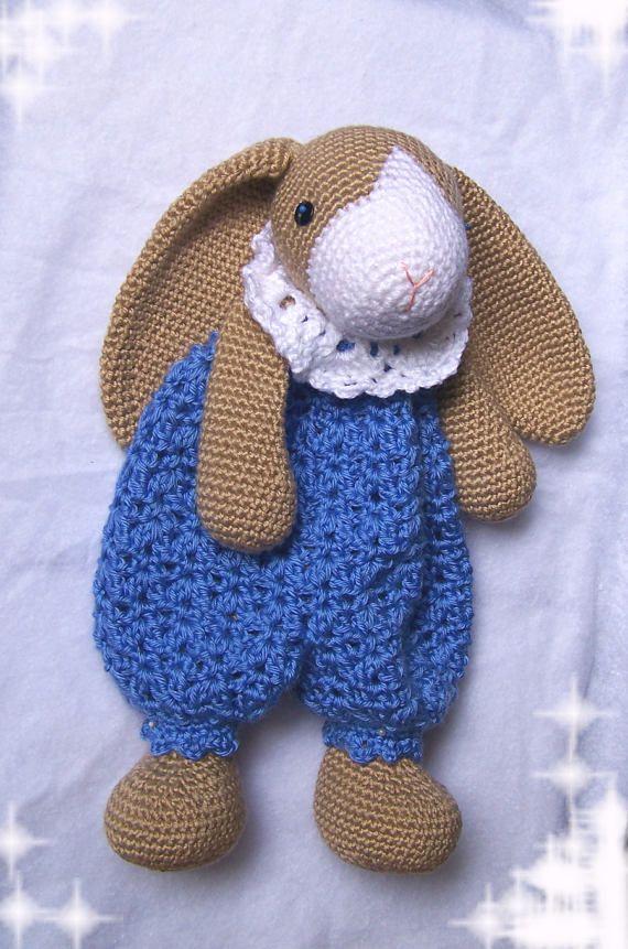 Crochet Bunny Pattern-Crochet Rag Doll Bunny Pattern-Amigurumi Rabbit-DIY Stuffed Toy-Crochet Lovey Pattern-Snuggly Bunny Crochet Pattern