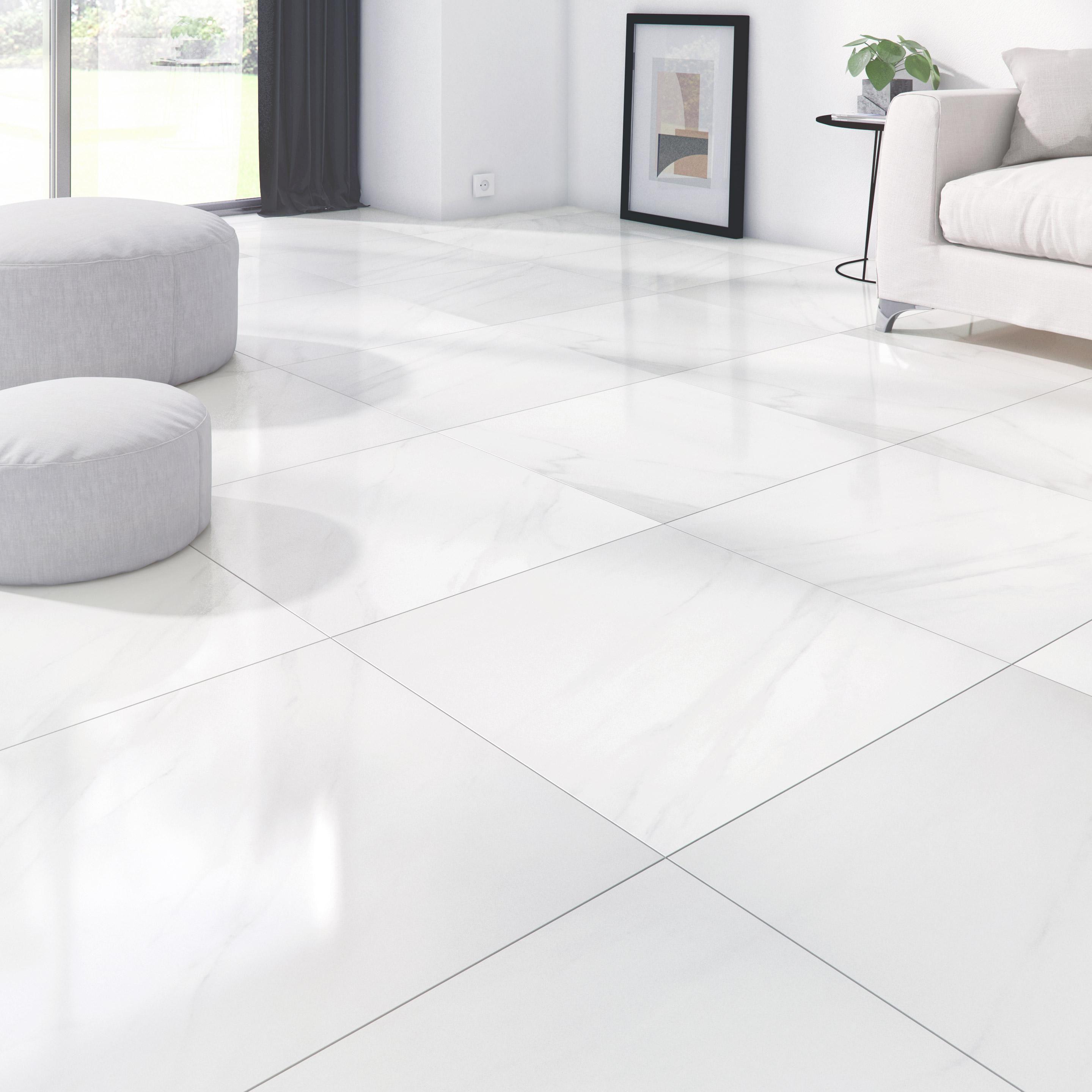 Carrelage Sol Et Mur Intenso Effet Marbre Blanc Marmi L 60 X L 60 Cm Artens Leroy Merlin En 2020 Carrelage Sol Carrelage Interieur Carreaux En Marbre