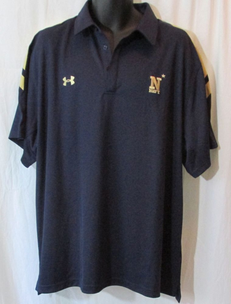 Clothing, Shoes & Accessories Mens Under Armour Yellow Polo Shirt 3xl