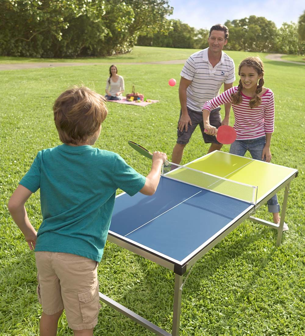 Pick Up And Go Table Tennis Active Games Outdoor Play Category Hearthsong Table Tennis Game Portable Table Backyard Toys For Kids