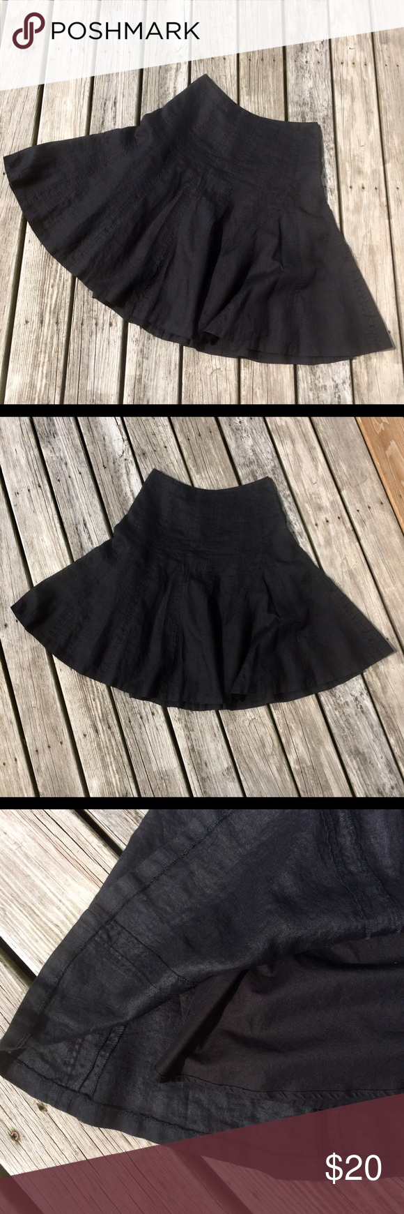 """Ralph Lauren Black Linen Circular Skirt Petite This a twirling skirt for grown ups! Classy black linen drop waist skirt with fun circular styling Fully lined Hidden side zipper closure  The care tag says """"Dry clean""""- this skirt has been machine laundered and hung to dry and has lived to tell about it  Ralph Lauren Black Linen Circular Skirt Petite This a twirling skirt for grown ups! Classy black linen drop waist skirt with fun circular styling Fully lined Hidden side zipper closure  The car #twirlskirt"""