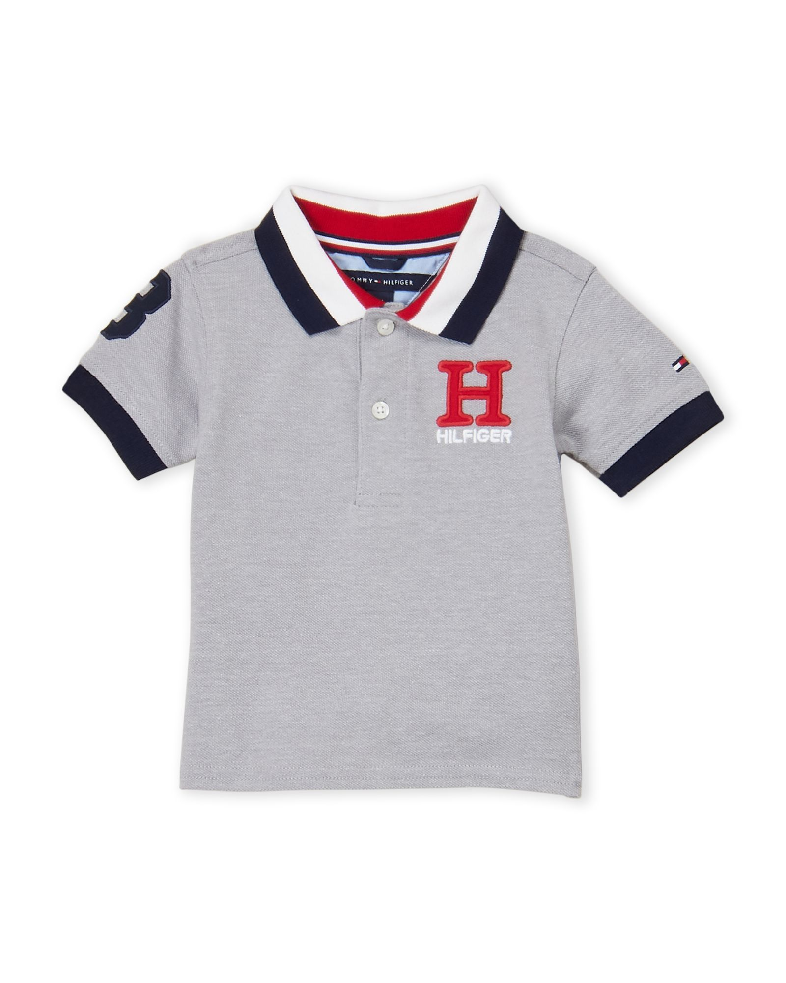 f99a1f36 Tommy Hilfiger (Infant Boys) Grey Embroidered Pique Polo | *Apparel ...