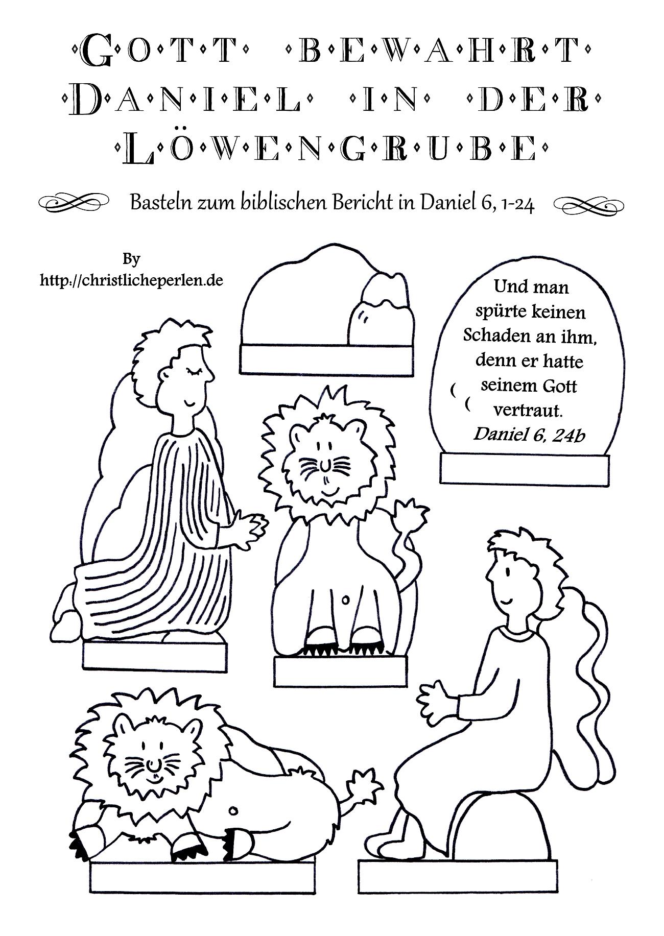 Basteln Daniel In Der Löwengrube Schule Religionideen
