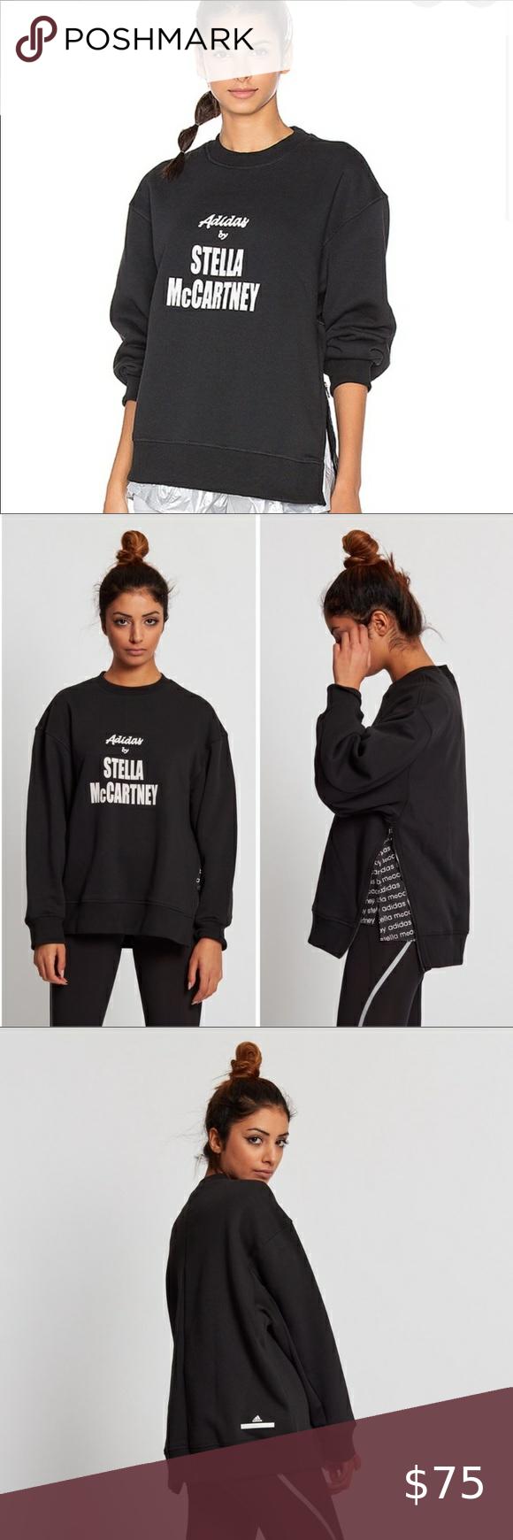Adidas By Stella Mccartney Black Yoga Sweatshirt Yoga Sweatshirt Stella Mccartney Adidas Sweatshirts [ 1740 x 580 Pixel ]