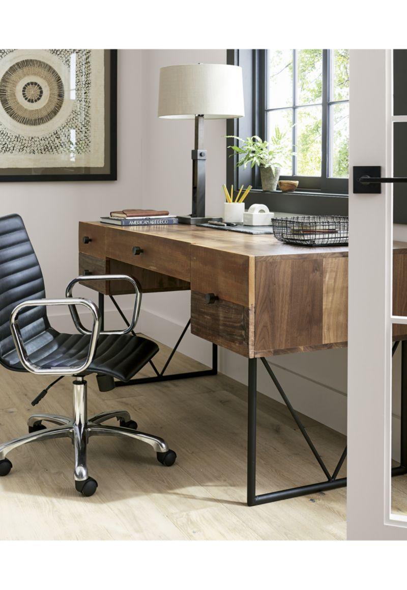 Denley Bronze Table Lamp, Set of 2 | Reclaimed wood desk
