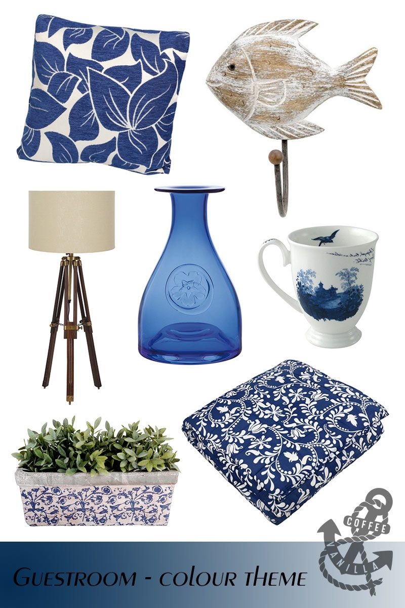 Navy Blue & Cream Guestroom - Home Decor Theme » Coffee ...