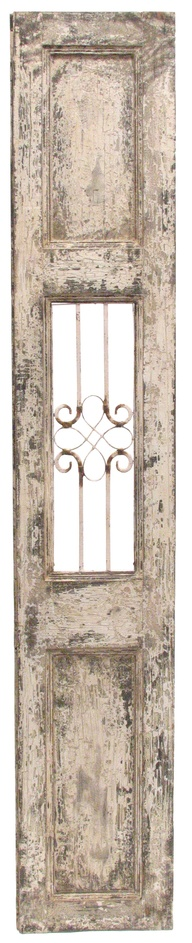 Antique French Door With Iron Grille | Interiors Online Furniture $355 40 X  228
