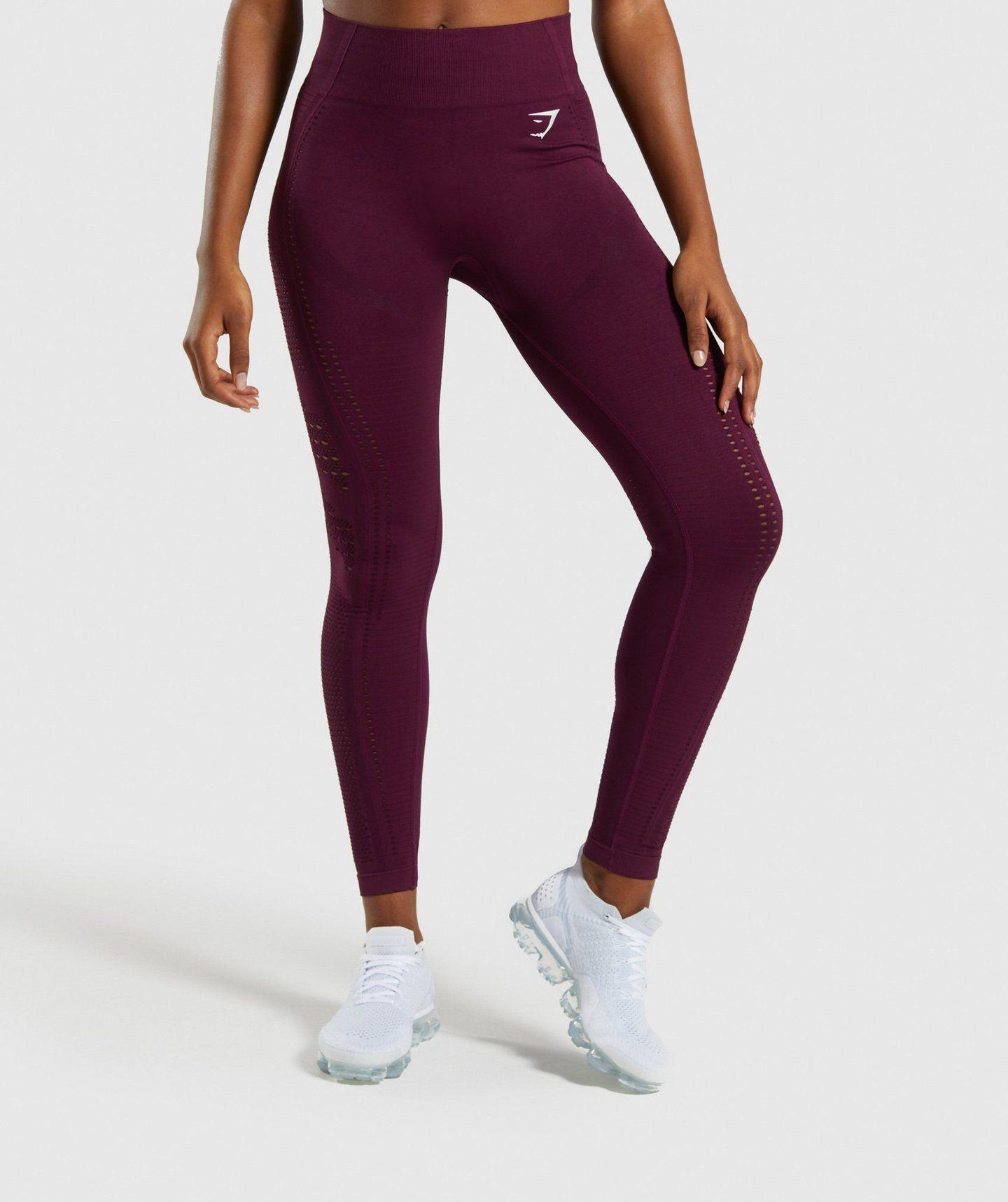 3ac6e46e7c8da Gymshark Flawless Knit Tights - Ruby | Bottoms & Leggings | Gymshark