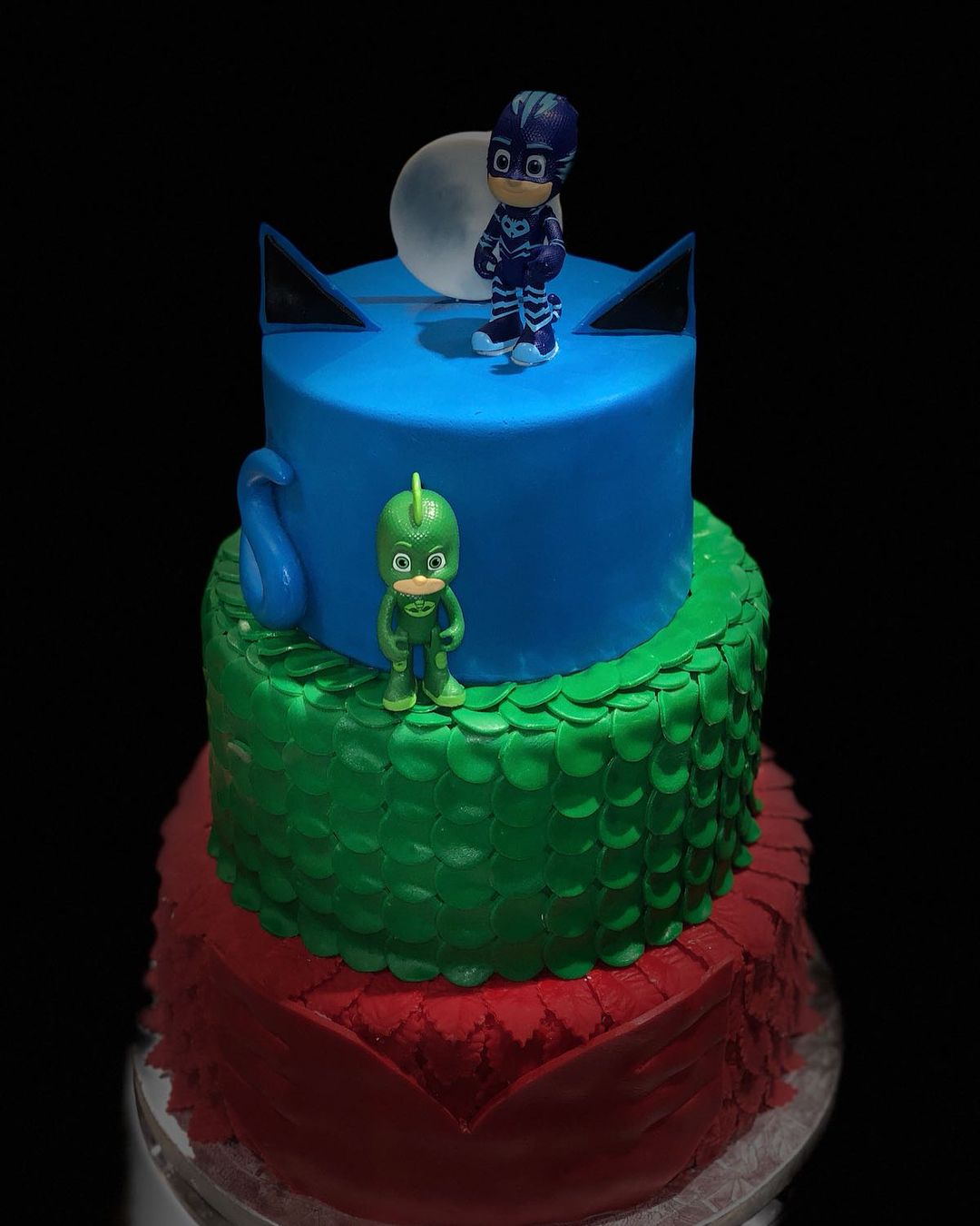 Amazing A 4 Year Old Birthday Cake Pj Mask Theme Couture Cakes Has Had Funny Birthday Cards Online Fluifree Goldxyz